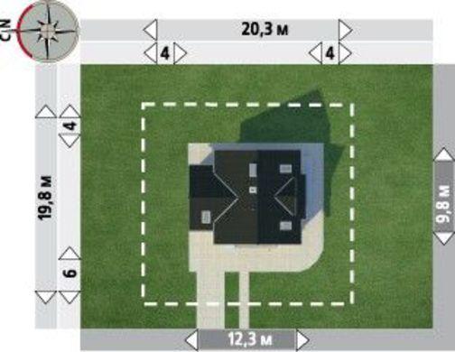 Архитектурный проект особняка с оригинальной планировкой