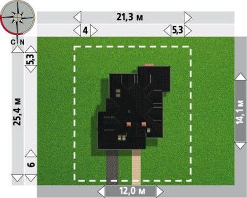 Архитектурный проект большого коттеджа с практичной планировкой