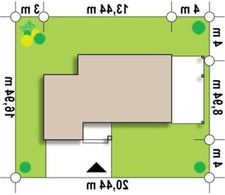 Проект современного коттеджа с фронтальной гостиной