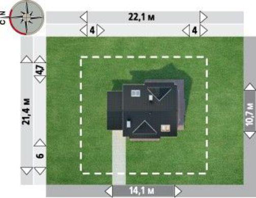 Роскошный загородный дом с площадью 190 m²