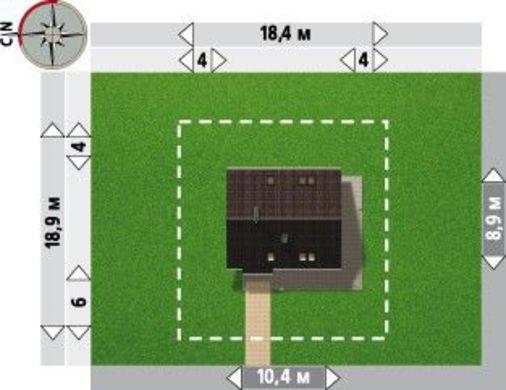 Интересный проект загородного коттеджа с пятью комнатами