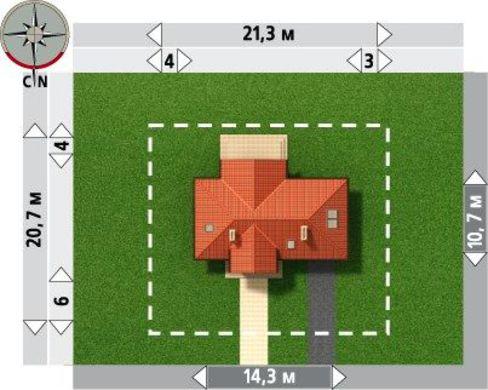 Привлекательный проект дома с мансардой и гаражом на 1 машину