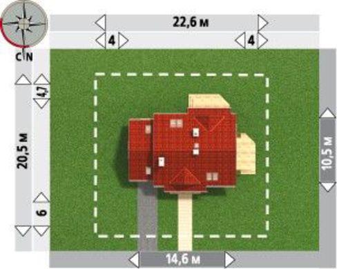 Запоминающийся проект коттеджа с мансардой площадью до 200 m²
