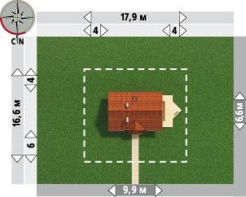 Уютный коттедж с тремя небольшими спальнями