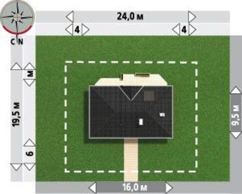 Красивый проект для строительства дома для узкого участка