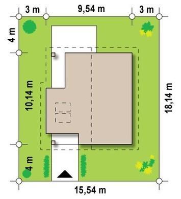 Проект небольшого удобного дома с мансардой