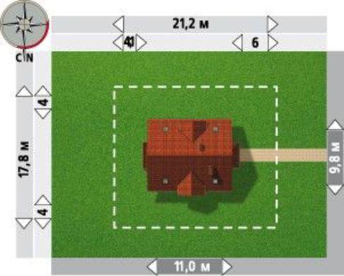 Архитектурный проект коттеджа с мансардой более 150 m²